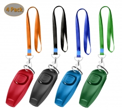 Dog Training Whistle Clicker Combo,Ultrasonic to Stop Pet Barking,Train Skills Tools,Set of 4