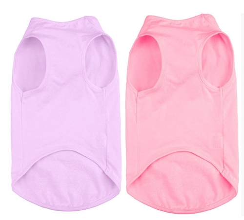 Dog  Blank T-shirts Soft Comfortable Vest for Small Medium Pets