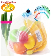 Reusable Produce Bags See-through Lightweight Mesh Storage Bag