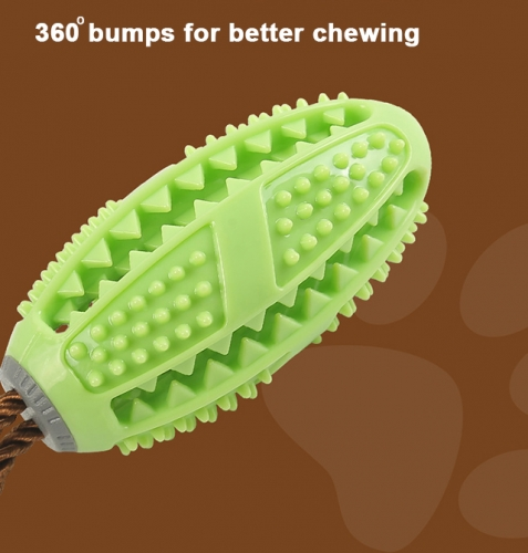 Dog Toy Ball,Nontoxic Bite Resistant Tooth Chewing Cleaning Feeder