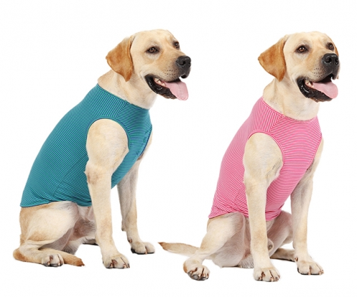 Dog Striped Cotton T Shirts,Pet Breathable Soft Basic Vest